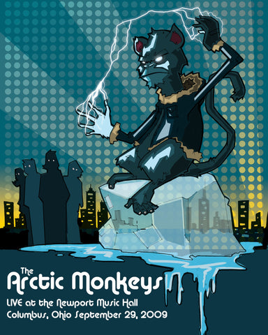 Arctic Monkeys - Ohio 2009 - A4 Music Mini Print