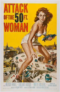 Attack of the 50 Foot Woman - 50s B-Movie Classic - Vintage Print
