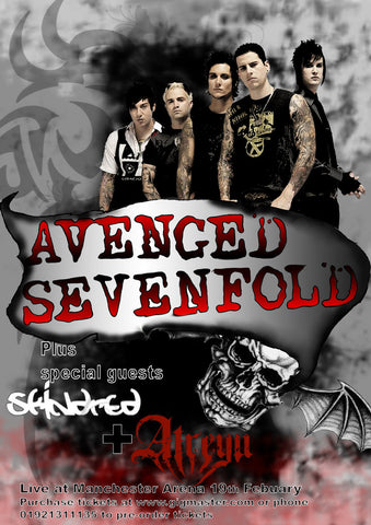 Avenged Sevenfold - Manchester Arena - A4 Music Mini Print