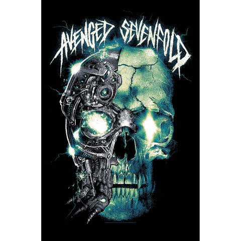 Avenged Sevenfold - Mechanical Skull - Textile Flag