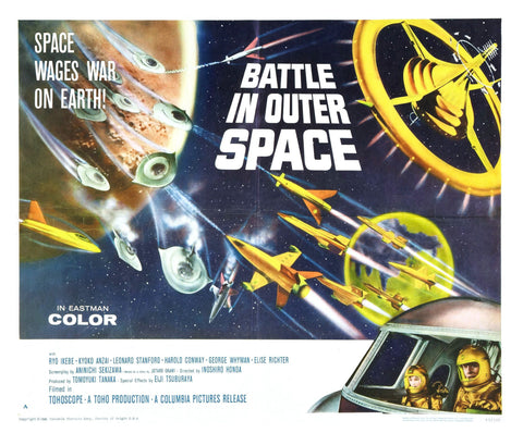 Battle In Outer Space - Classic Sci-fi - Vintage Movie Print