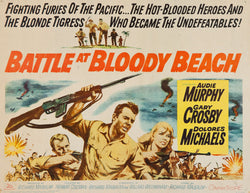 Battle at Bloody Beach - Audie Murphy - Vintage Movie Print