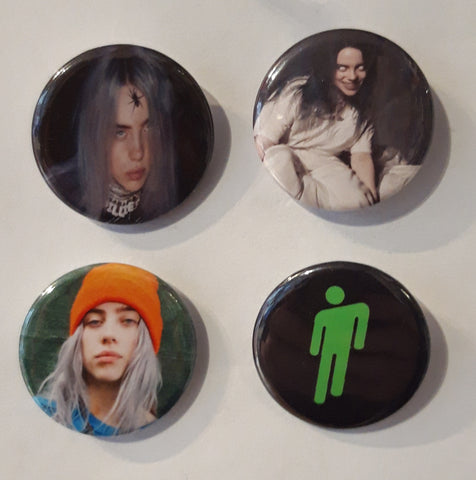 Billie Eilish - Set of 4 Badges