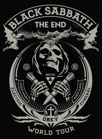 Black Sabbath - The End World Tour - A4 Mini Print