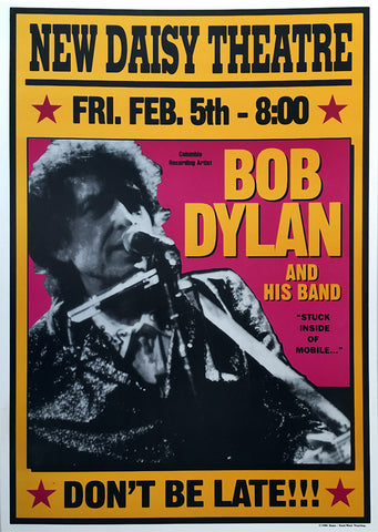 Bob Dylan - New Daisy Theatre Memphis - A4 Music Mini Print