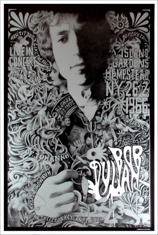 Bob Dylan - New York 1966 - A4 Music Mini Print