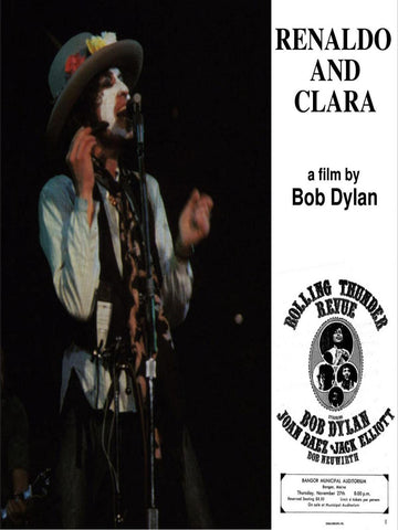 Bob Dylan - Renaldo and Clara - A4 Music Mini Print C