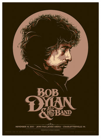 Bob Dylan and His Band - Charlottesville 2010 - A4 Music Mini Print