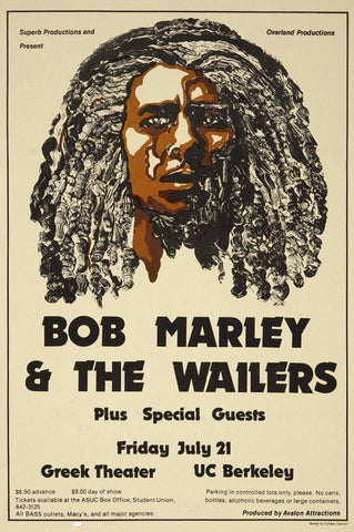 Bob Marley - Greek Theatre - UC Berkeley - A4 Mini Print