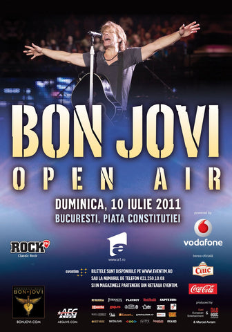 Bon Jovi - Open Air - A4 Music Mini Print