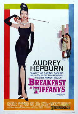 Breakfast at Tiffany's - Audrey Hepburn - Vintage Movie Print A
