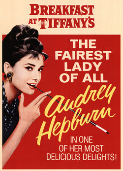 Breakfast at Tiffany's - Audrey Hepburn - Vintage Movie Print C