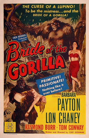 Bride of the Gorilla - 50s B-Movie Classic - Vintage Print A