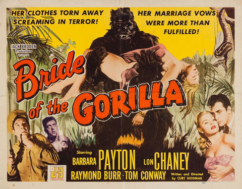 Bride of the Gorilla - 50s B-Movie Classic - Vintage Print B