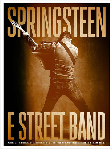 Bruce Springsteen - Australia 2017 - A4 Music Mini Print