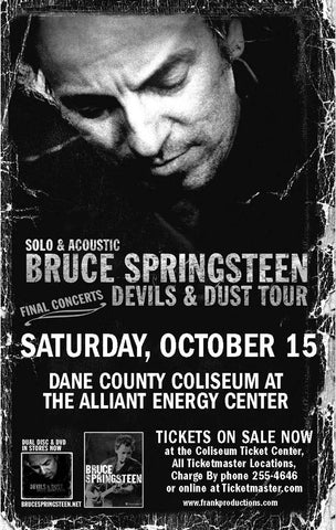 Bruce Springsteen - Devils and Dust Tour - Dane County Coliseum - A4 Music Mini Print A