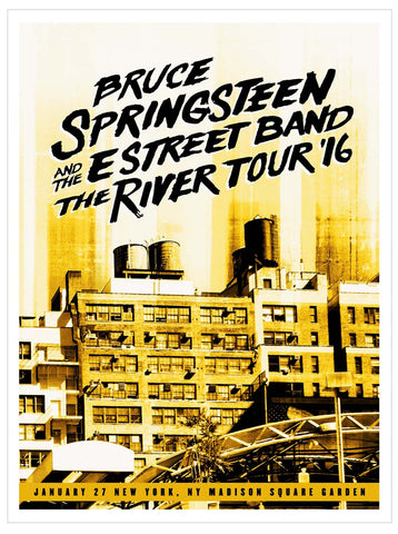 Bruce Springsteen - Madison Square Garden - River '16 - A4 Music Mini Print