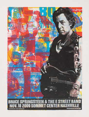 Bruce Springsteen - Nashville 2009 - A4 Music Mini Print