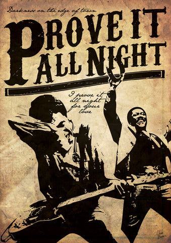 Bruce Springsteen - Prove it All Night - A4 Music Mini Print