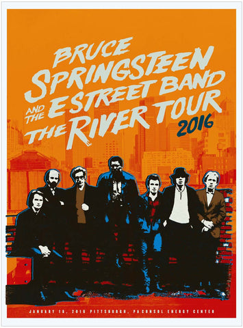 Bruce Springsteen - River Tour 2016 - Pittsburg - A4 Music Mini Print