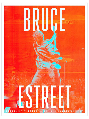 Bruce Springsteen - Toronto 2016 - A4 Music Mini Print