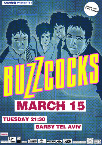 Buzzcocks - Barby Tel Aviv - February 2016 - A4 Music Mini Print