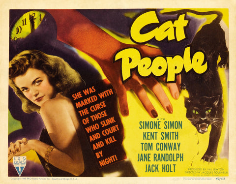 Cat People - 50s B-Movie Classic - Vintage Print C
