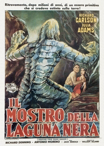 Creature from the Black Lagoon - 50s B-Movie Classic - Italian Vintage Print