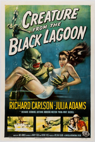 Creature from the Black Lagoon - 50s B-Movie Classic - Vintage Print B