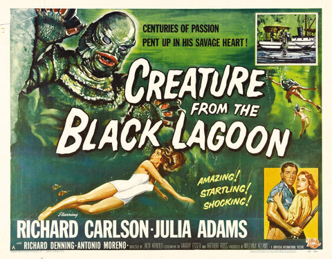 Creature from the Black Lagoon - 50s B-Movie Classic - Vintage Print A