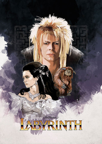 David Bowie - Labyrinth - A4 Movie Mini Print A