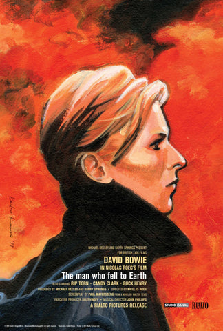 David Bowie - The Man Who Fell to Earth - A4 Movie Mini Print A