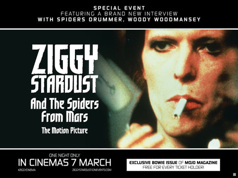 David Bowie - Ziggy Stardust and the Spiders from Mars - A4 Music Mini Print A
