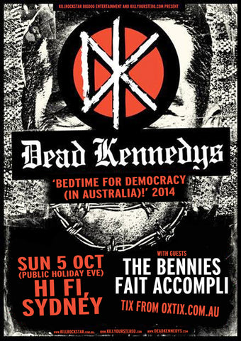 Dead Kennedys - Sydney 2014 - A4 Music Mini Print