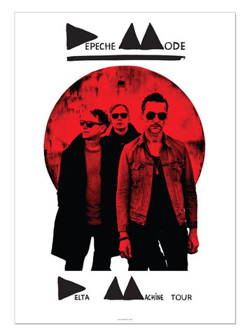 Depeche Mode - Delta Machine Tour - A4 Music Mini Print