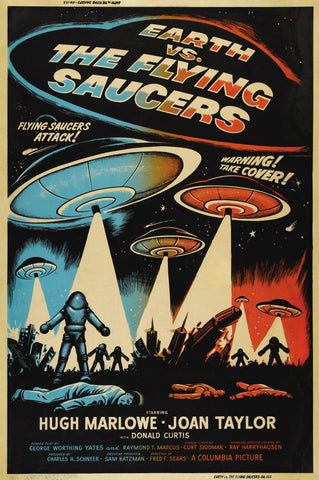 Earth vs the Flying Saucers - 50s B-Movie Classic - Vintage Print B