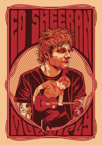 Ed Sheeran - Multiply - A4 Music Mini Print