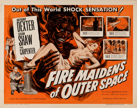 Fire Maidens from Outer Space - 50s B-Movie Classic - Vintage Print B