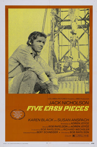 Five Easy Pieces - A4 Movie Mini Print