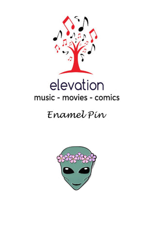 Flower Crown Alien - Enamel Pin