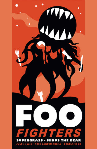 Foo Fighters - Portland 2008 - A4 Music Mini Print