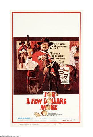 For a Few Dollars More - Clint Eastwood - A4 Movie Mini Print A