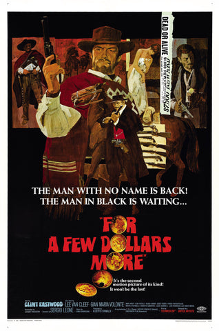 For a Few Dollars More - Clint Eastwood - A4 Movie Mini Print B