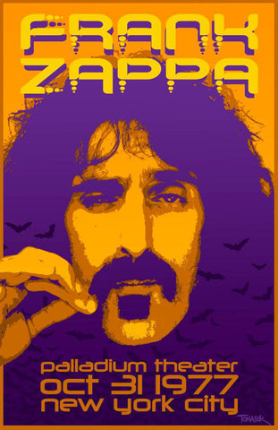 Frank Zappa - New York City 1977 - A4 Mini Print