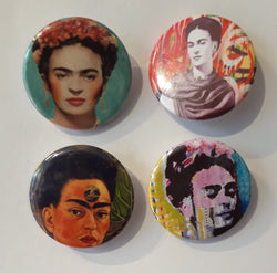 Frida Kahlo - Set of 4 Badges A