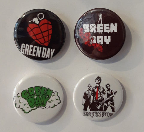 Green Day - Set of 4 Badges