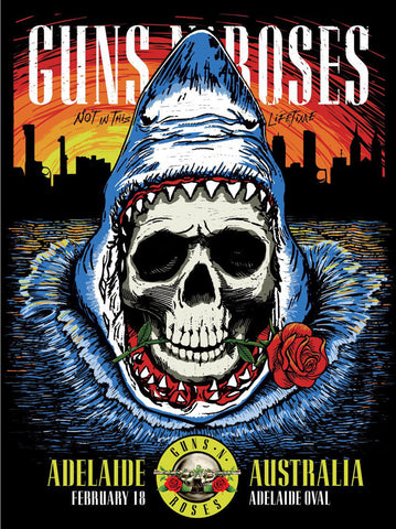 Guns 'n' Roses - Adelaide - A4 Music Mini Print