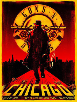 Guns 'n' Roses - Chicago - A4 Mini Print