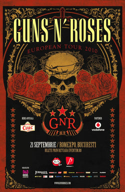 Guns 'n' Roses - European Tour 2010 - A4 Mini Print