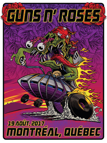 Guns 'n' Roses - Montreal 2017 - A4 Music Mini Print